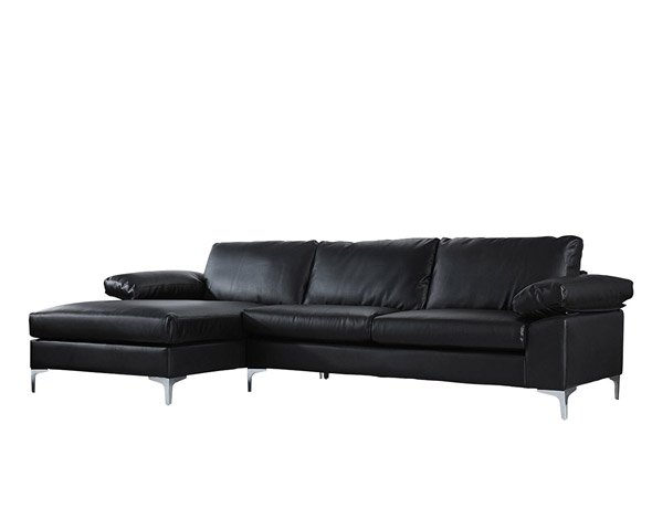 Modern Large Faux Leather Sectional